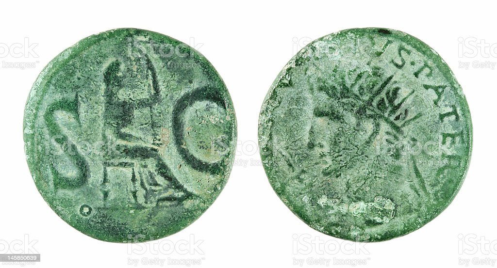 Roman coin of 2000 years ago royalty-free stock photo