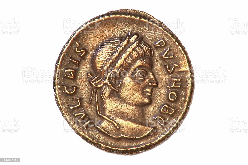 Roman Coin stock photo