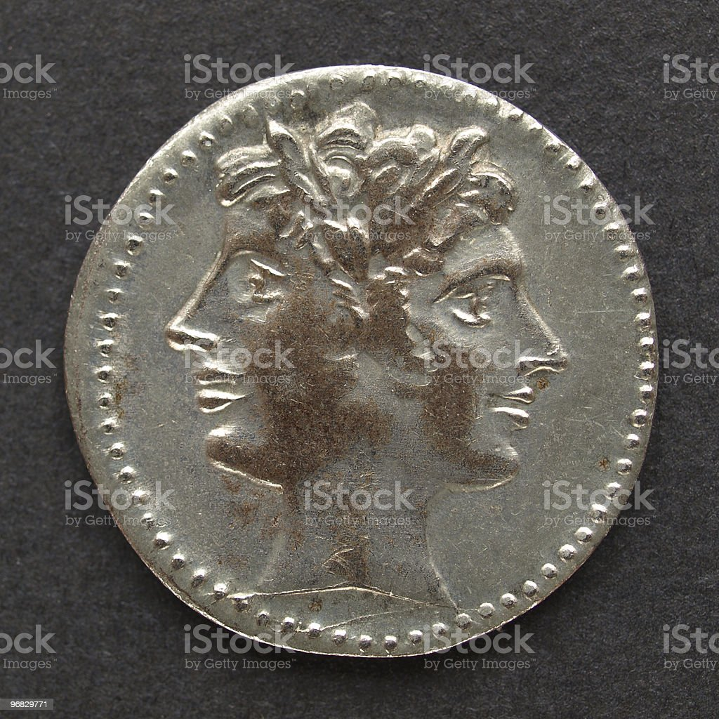 Roman coin royalty-free stock photo