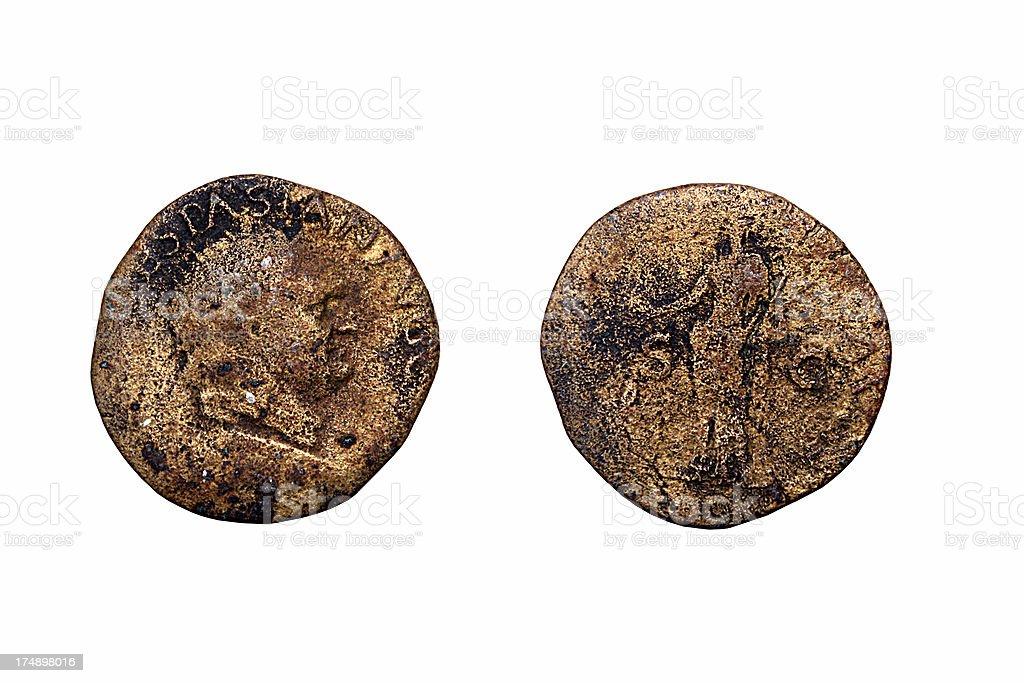 Roman Coins royalty-free stock photo