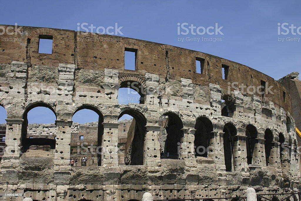 Roman Coliseum Closeup royalty-free stock photo