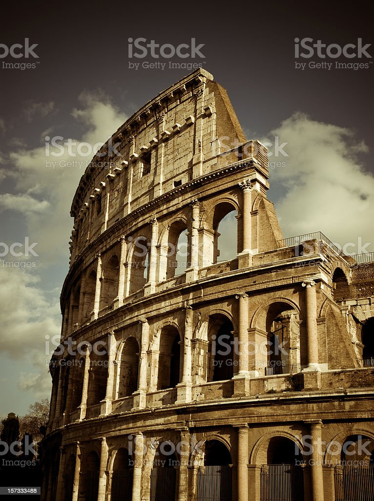 roman coliseum royalty-free stock photo