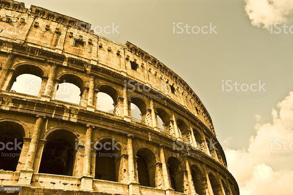 Roman Coliseum stock photo