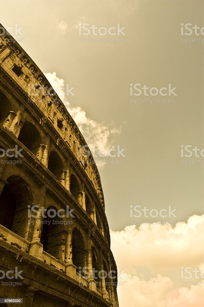 Roman Coliseum royalty-free stock photo