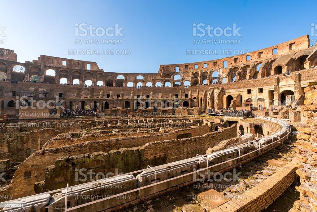 Roman Colosseum in Rome, Italy stock photo