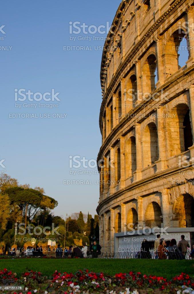 Roman Colosseum in Spring stock photo
