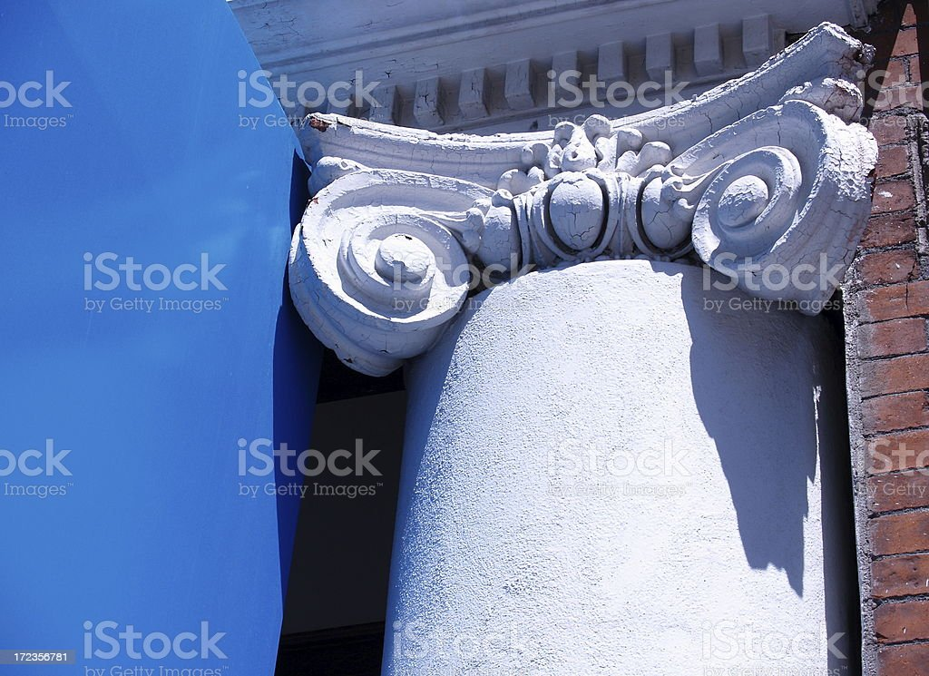 Roman Column & Pedestal royalty-free stock photo