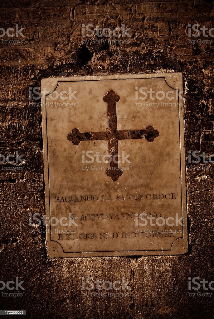 roman cross stock photo
