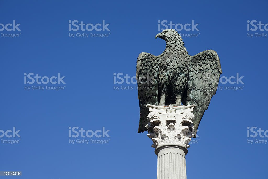 Roman eagle stock photo
