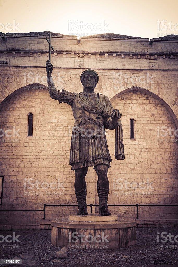 Roman emperor stock photo