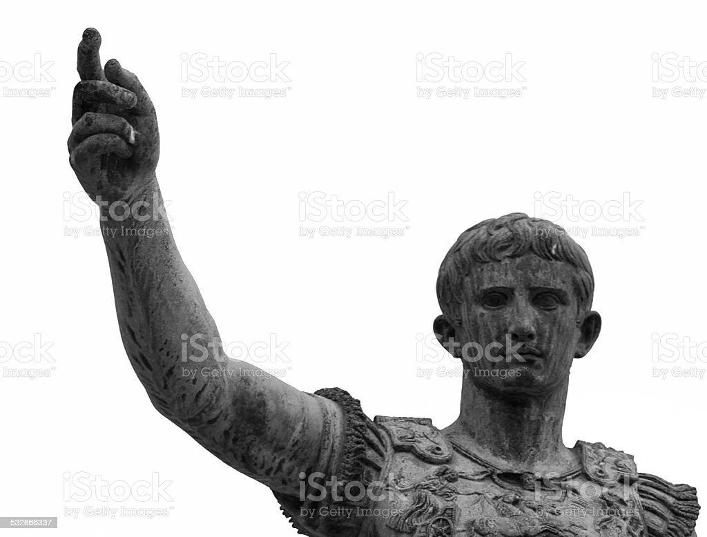 Roman Emperor Portrait stock photo