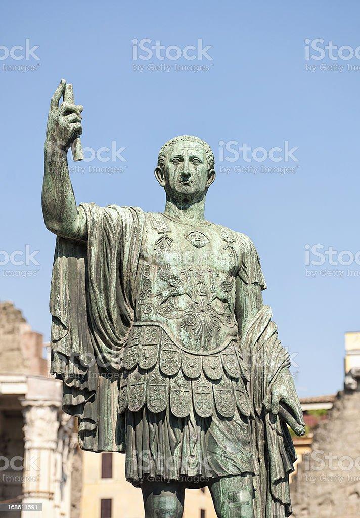 Roman Emperor Statue stock photo