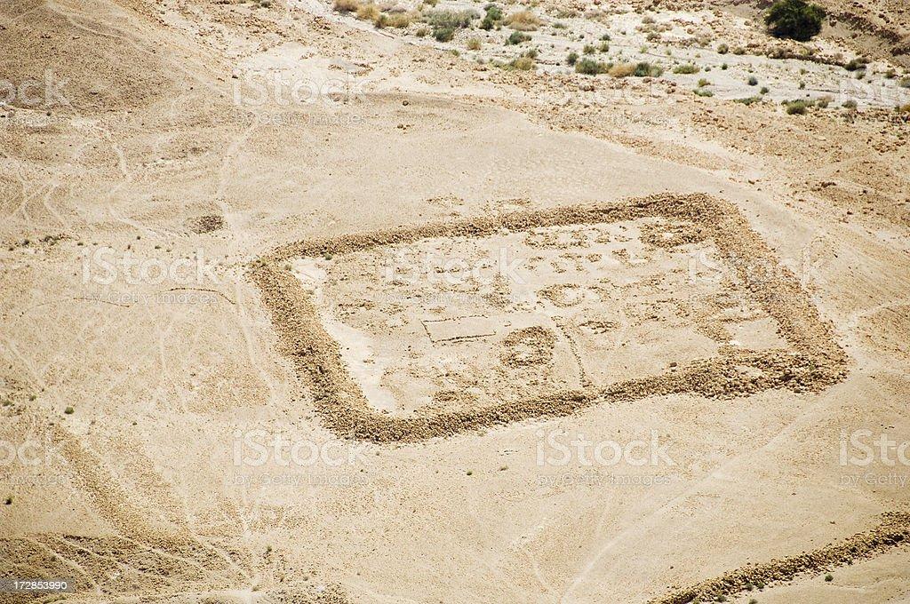 Roman Encampment at Masada stock photo