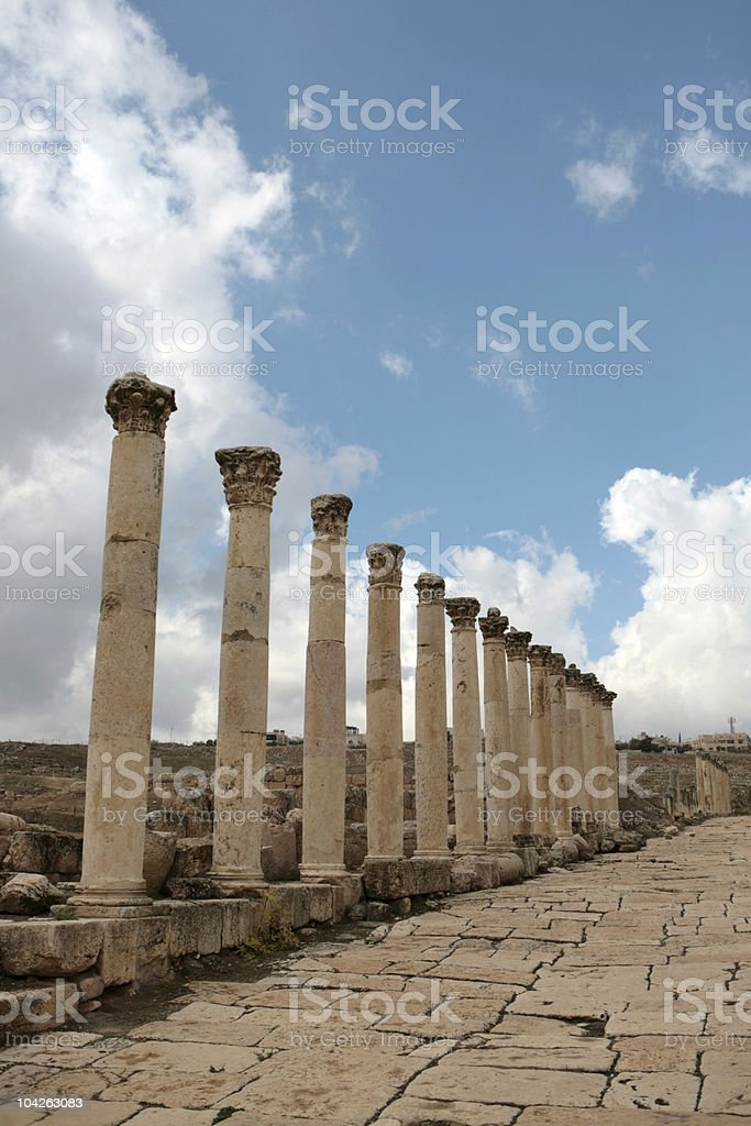 Roman era roadway royalty-free stock photo