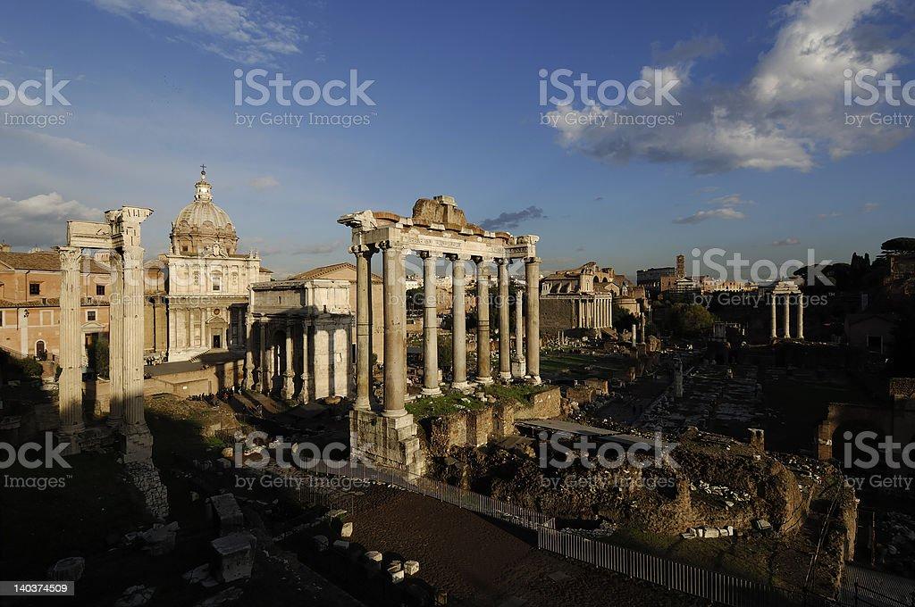 Roman Forum 1 royalty-free stock photo