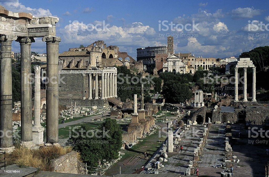 Roman Forum 2 royalty-free stock photo
