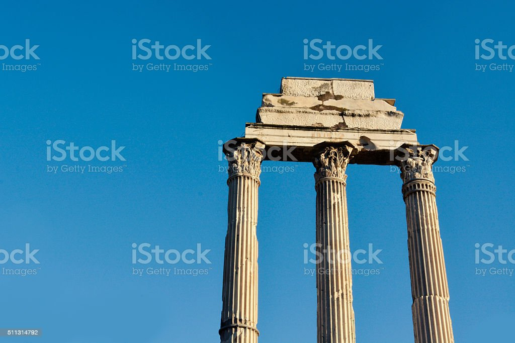 Roman Forum Ancient Columns stock photo