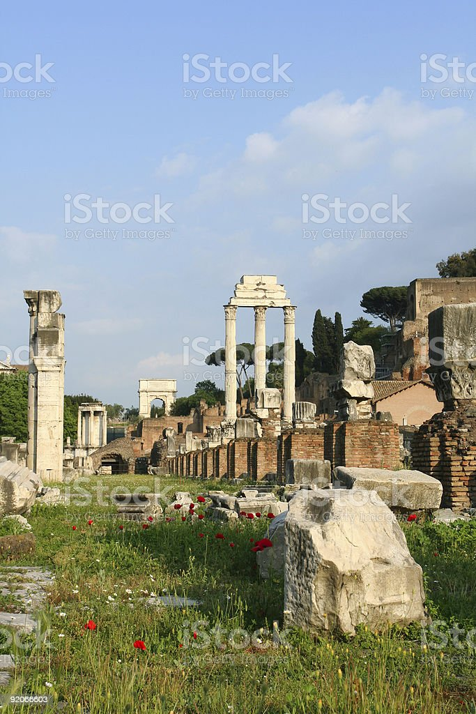 Roman Forum at dusk royalty-free stock photo