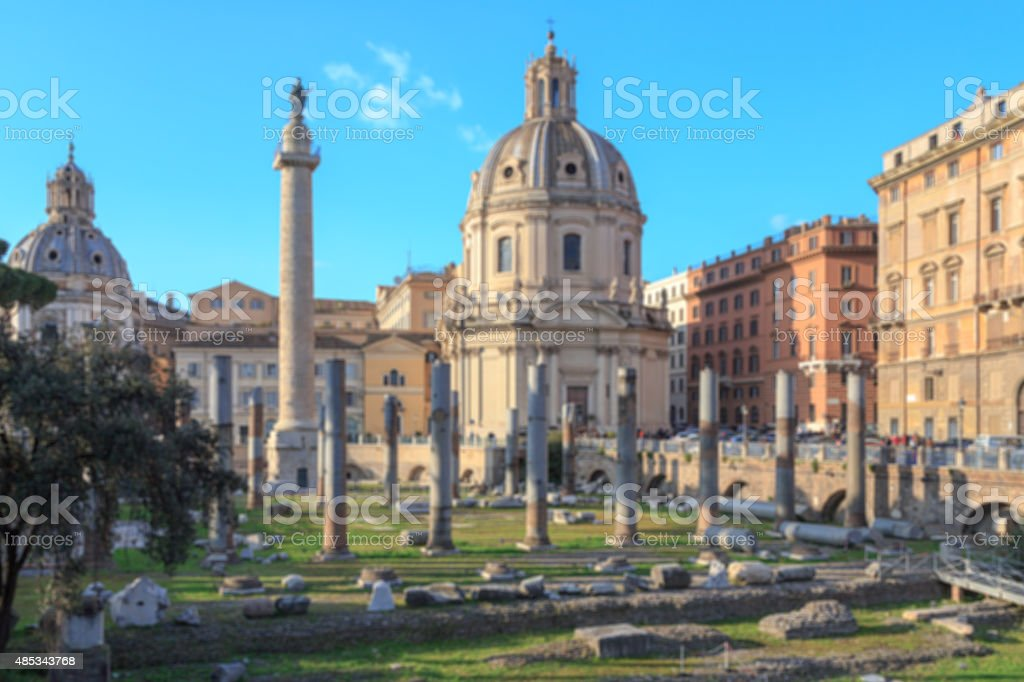 Roman Forum Blur stock photo