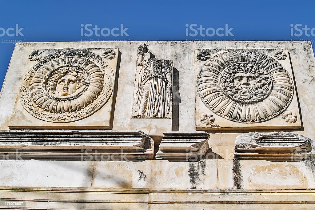 Roman forum in Merida detail royalty-free stock photo