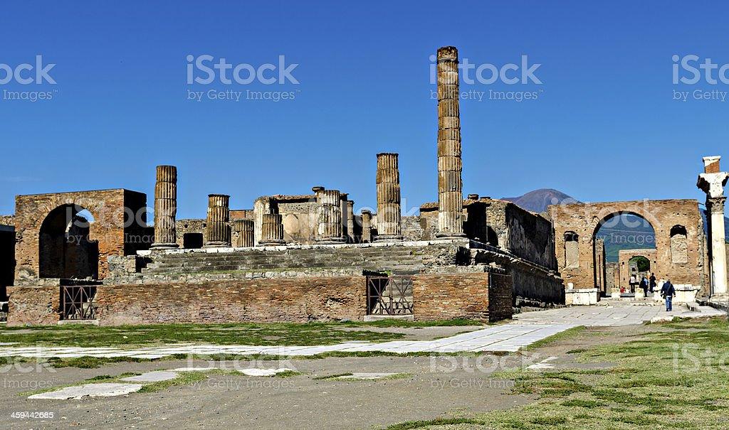 Roman Forum in Pompeii stock photo