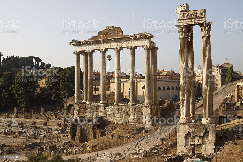 Roman Forum in Rome Italy royalty-free stock photo