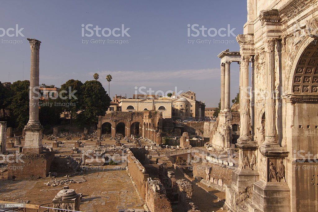 Roman Forum in Rome Italy royalty-free stock photo