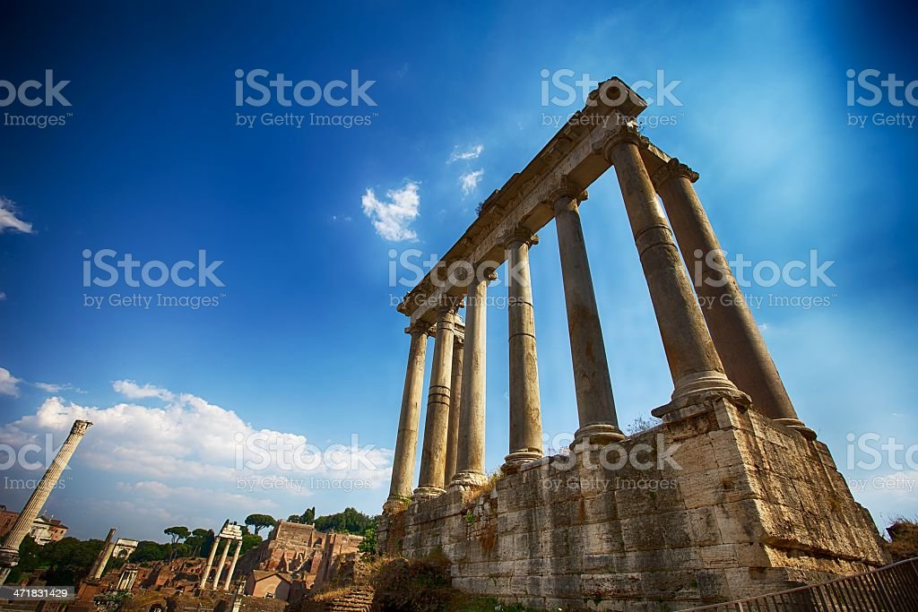 Roman Forum in Rome, Italy royalty-free stock photo