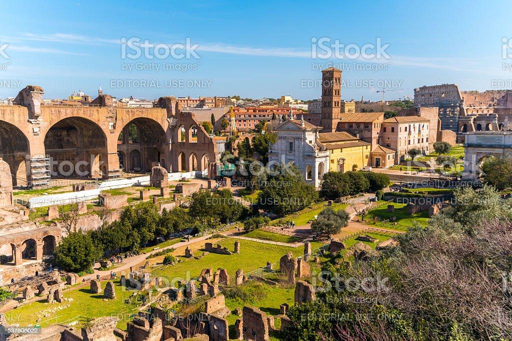 Roman Forum in Rome, Italy stock photo