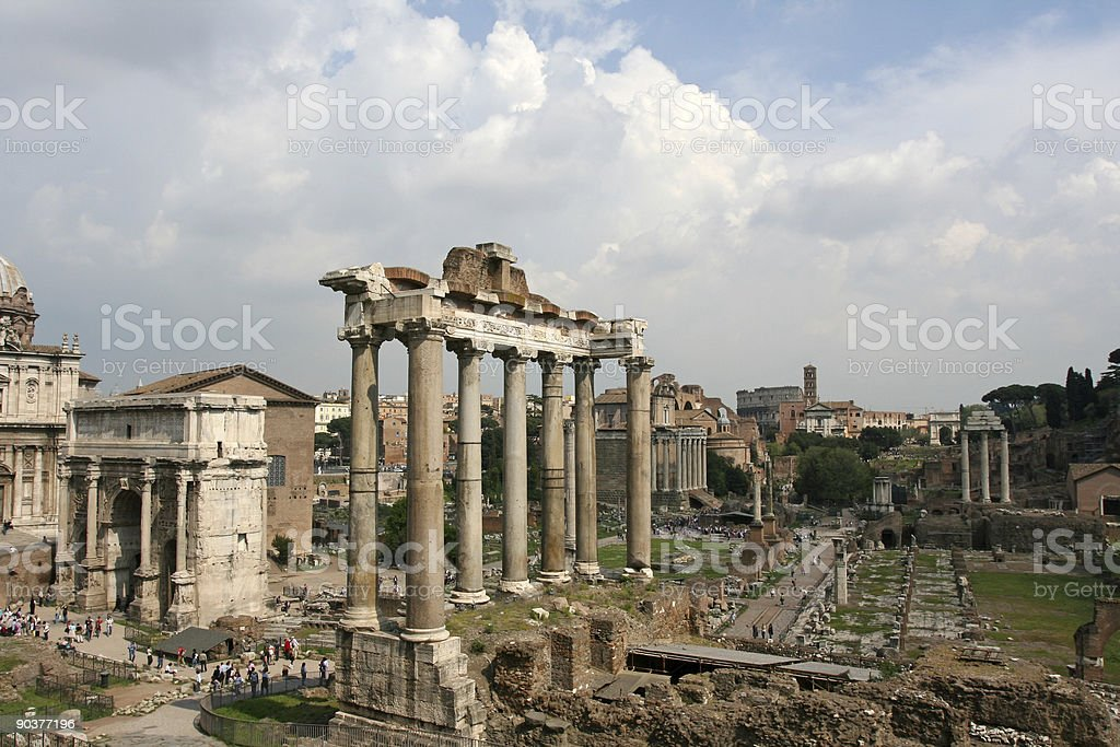 Roman Forum in Rome, Italy royalty-free stock photo
