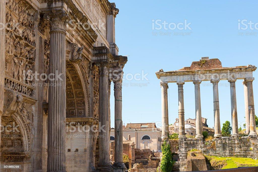Roman Forum in Rome royalty-free stock photo
