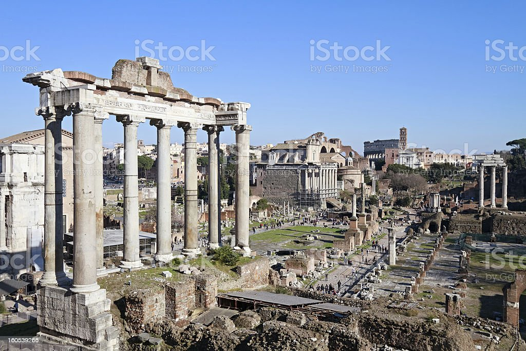 Roman Forum, Italy stock photo