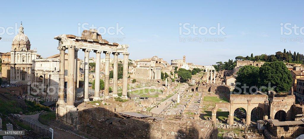 Roman forum panoramic royalty-free stock photo