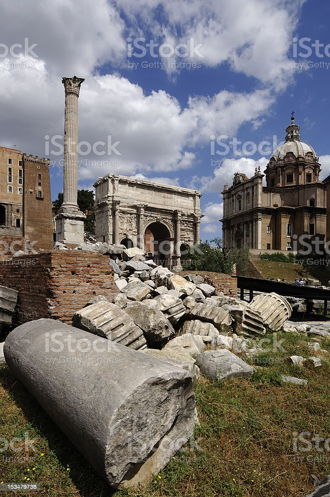 Roman Forum royalty-free stock photo