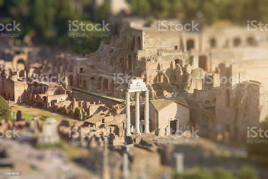 Roman Forum royalty-free stock photo