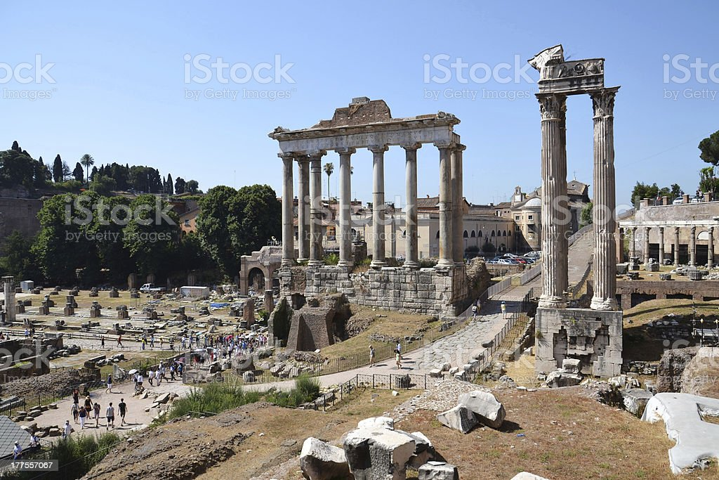 Forum Romanum royalty-free stock photo