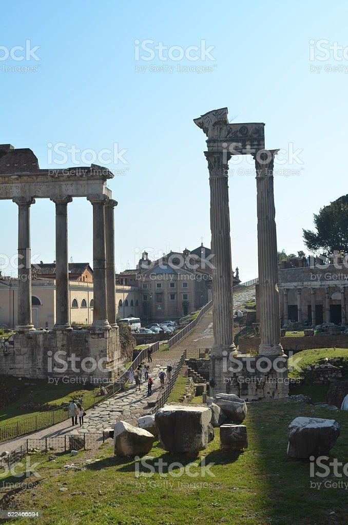 Roman Forum, Rome Italy stock photo