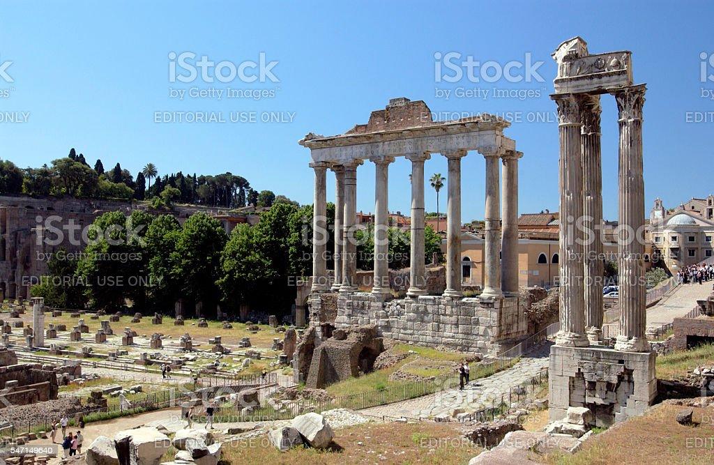Roman Forum - Rome - Italy stock photo