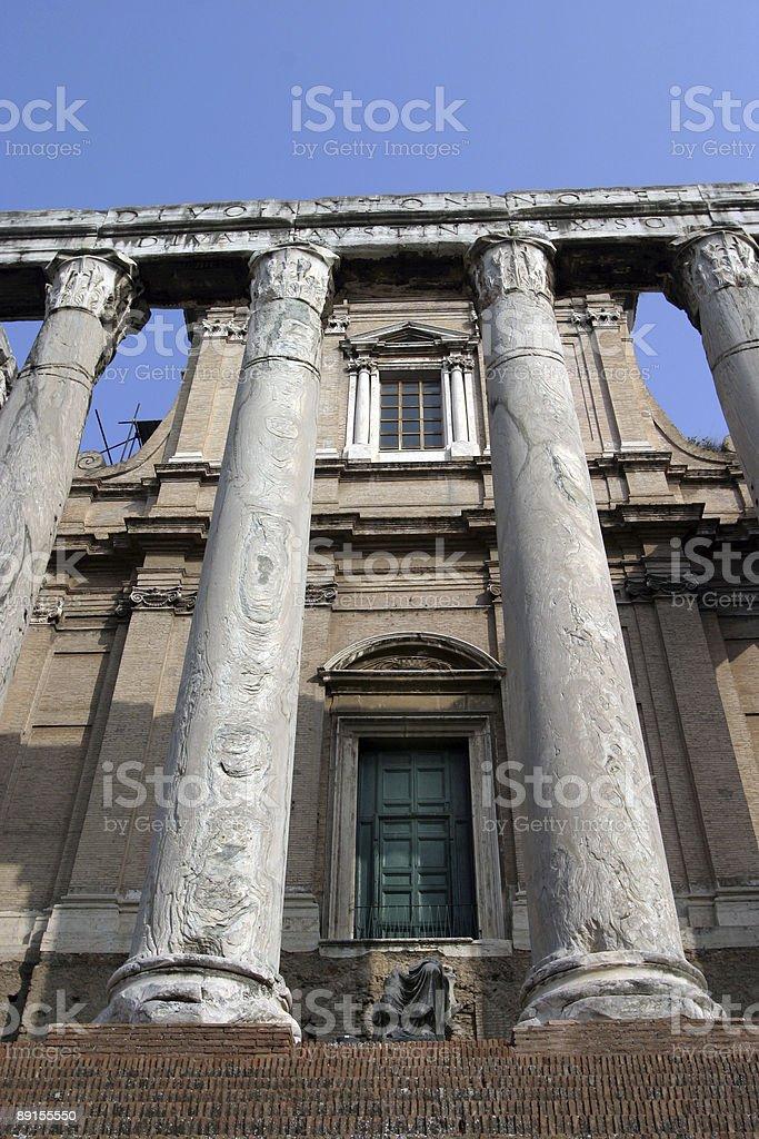 Roman Forum Rome Italy royalty-free stock photo