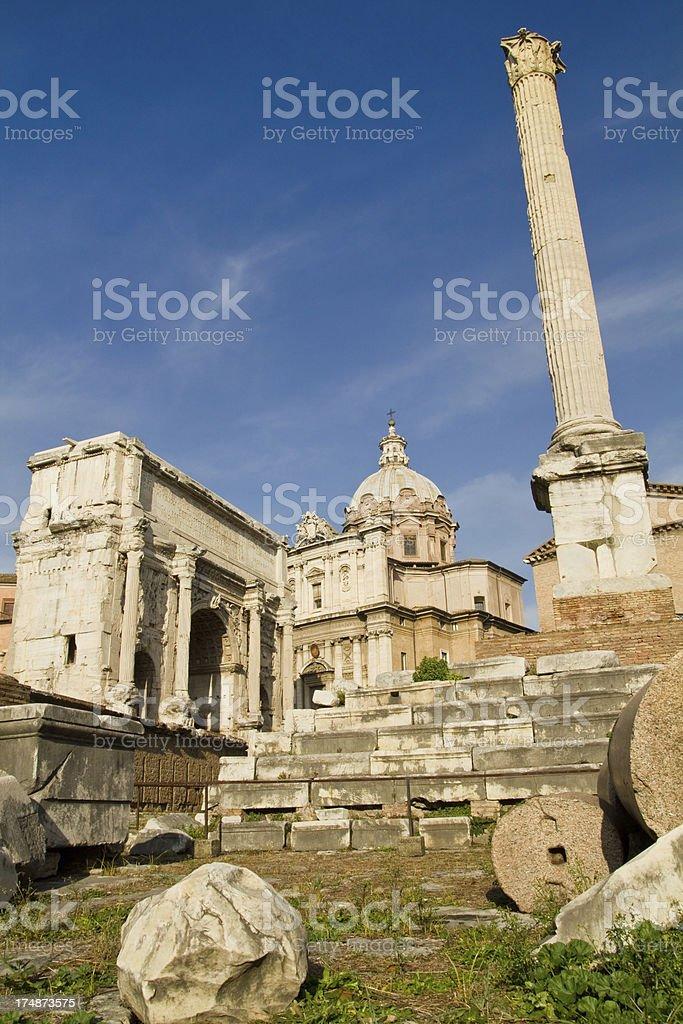Roman Forum, Rome royalty-free stock photo
