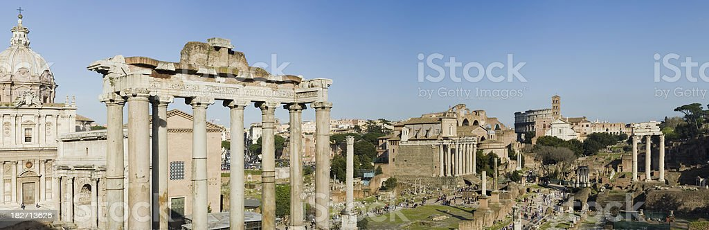 Roman Forum Ruins in Rome Italy royalty-free stock photo
