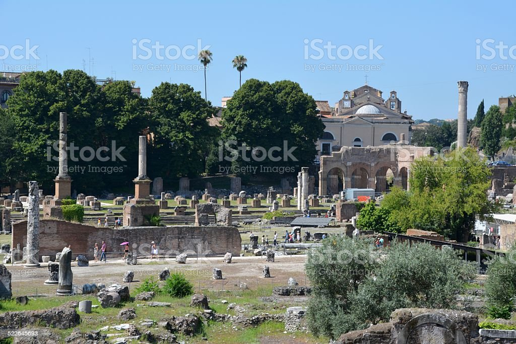 Roman Forum, Via dei Fori Imperiali, Rome stock photo