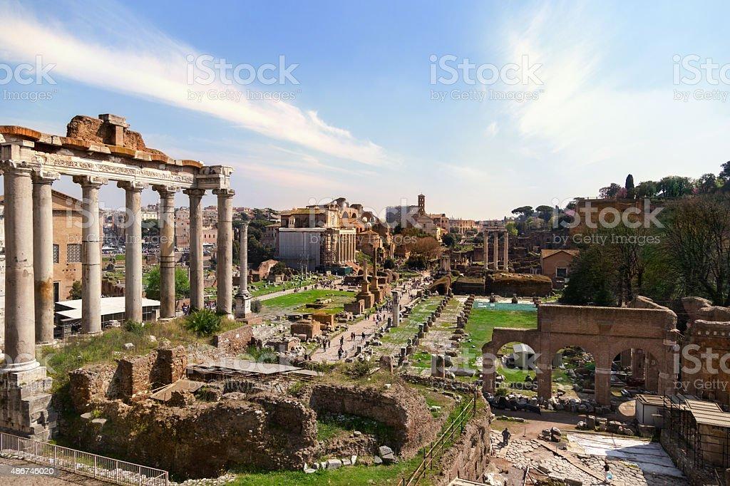 Roman Fourm stock photo