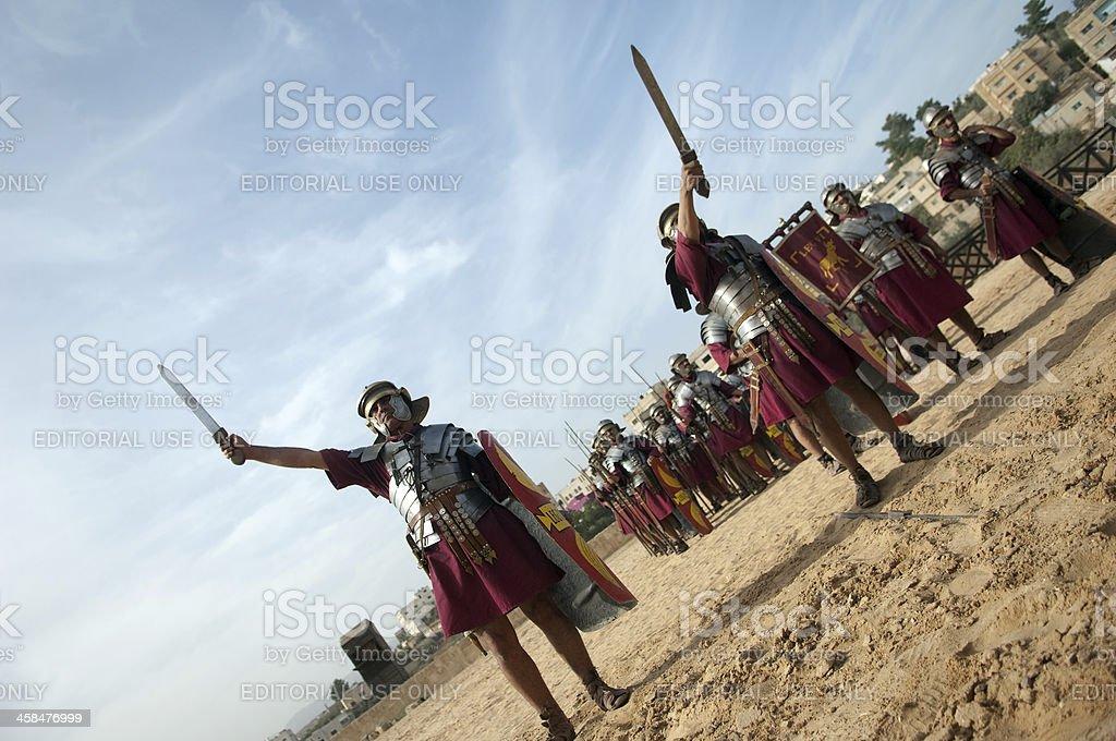 Roman General in his chariot - Jerash, Jordan stock photo