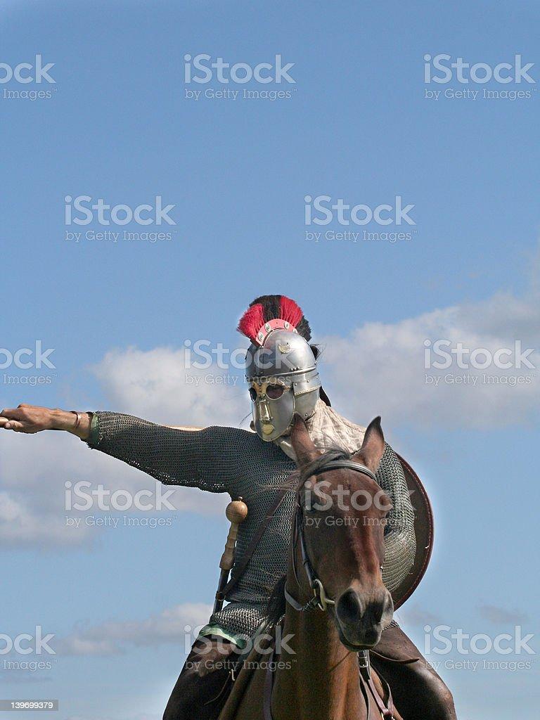 Roman Horsemen royalty-free stock photo