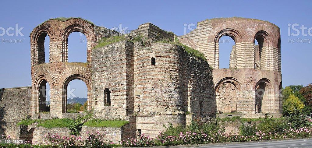 roman imperial Bath,Trier,Germany stock photo