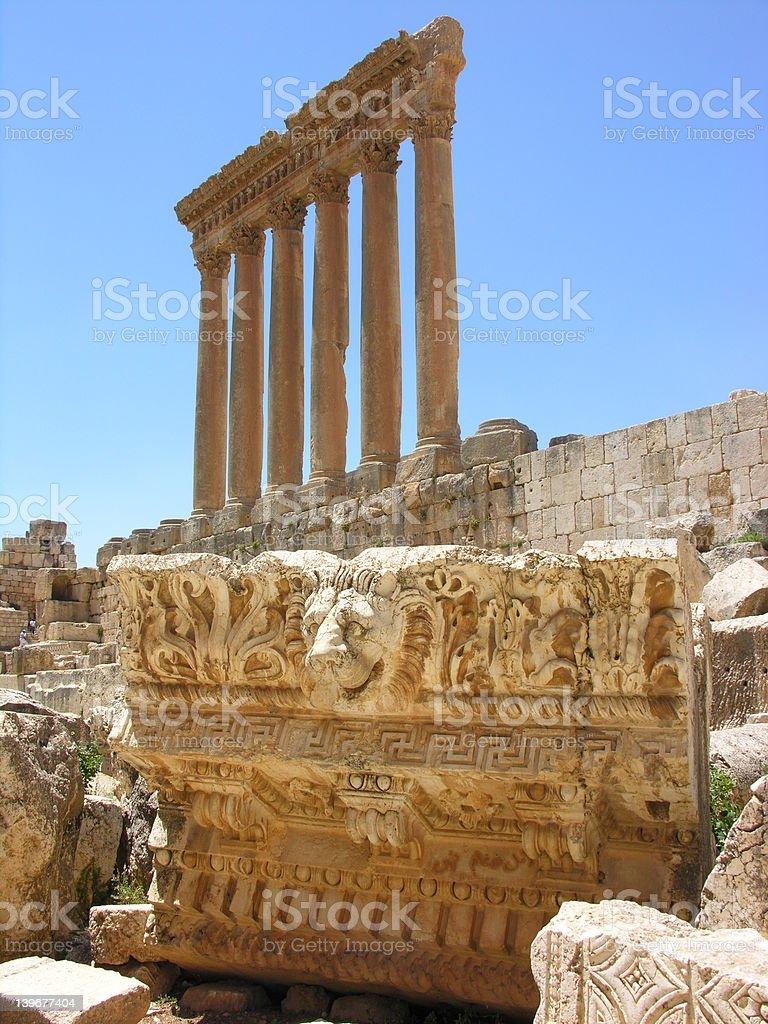 Roman Jupiter temple stock photo