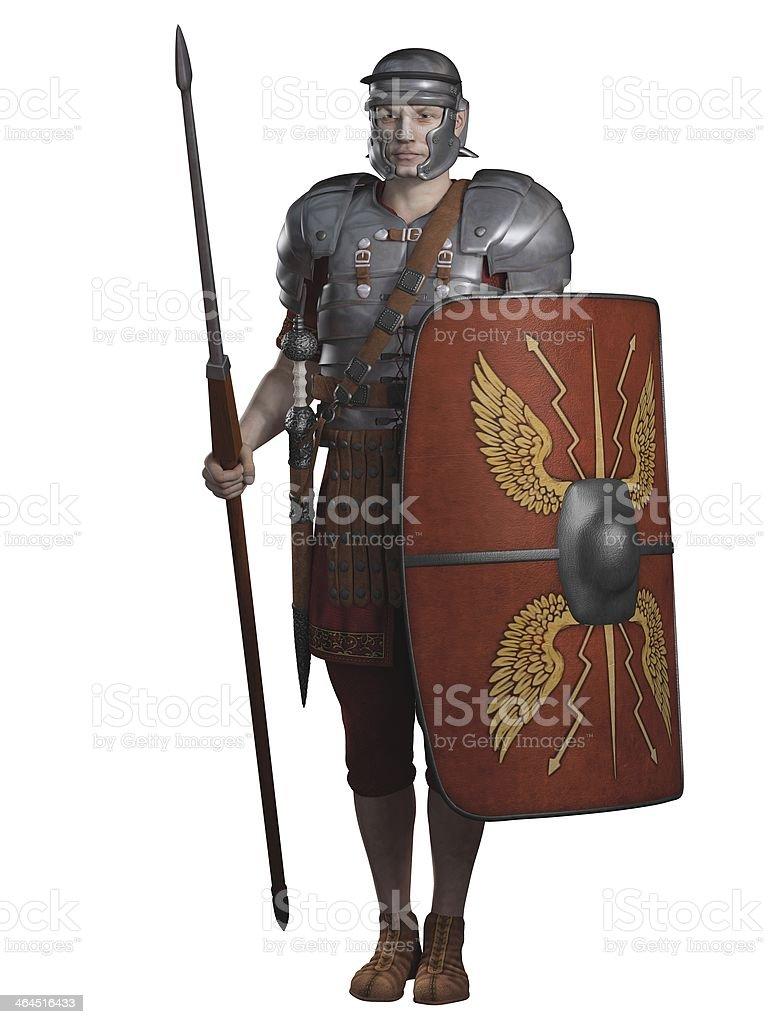 Roman Legionary on Guard stock photo