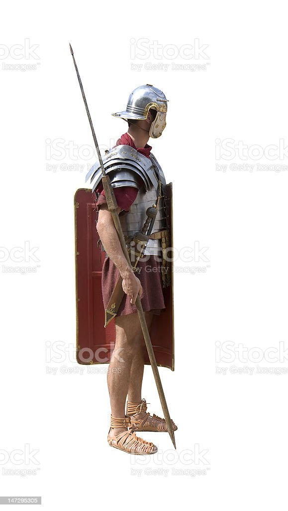 Roman legionary stock photo