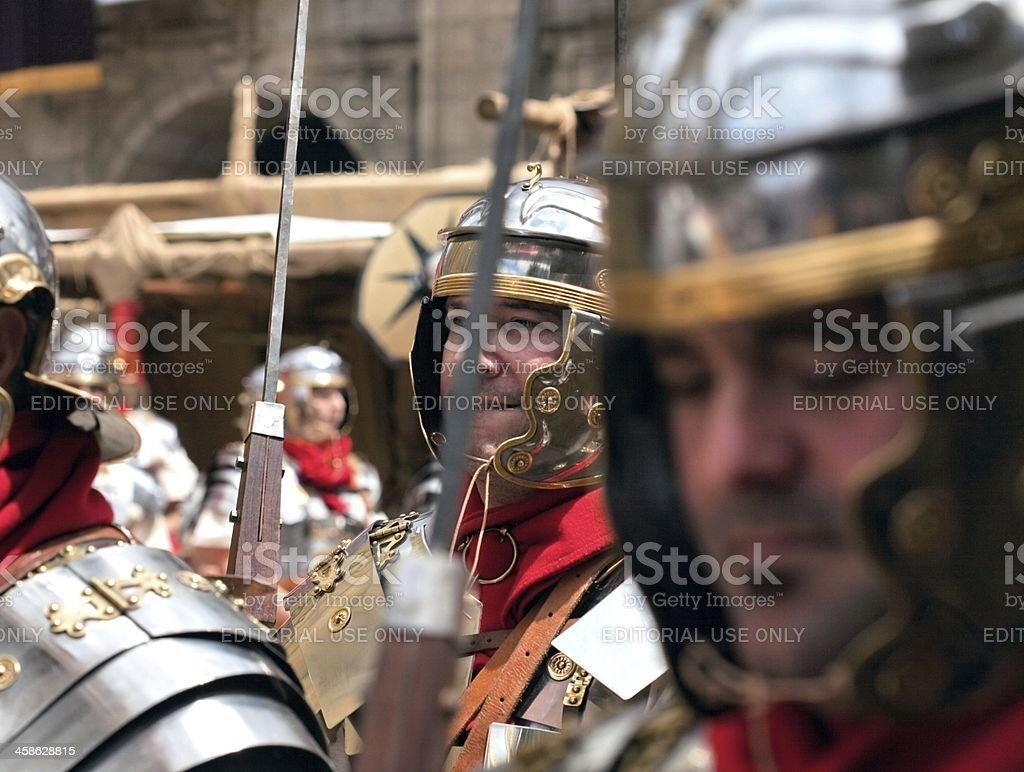 Roman legionnaires stock photo